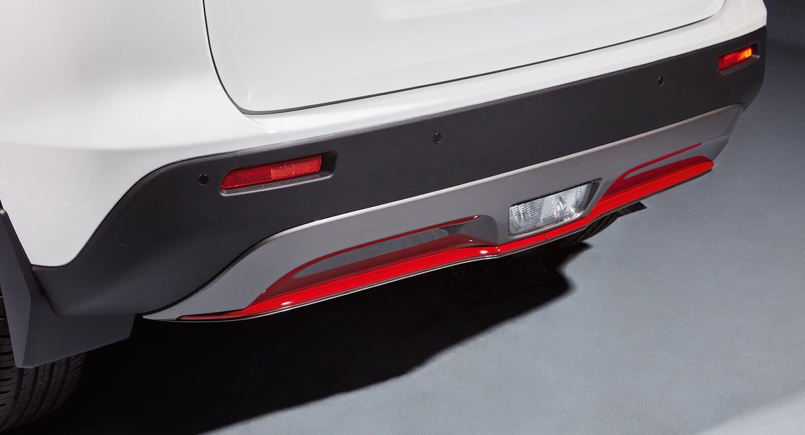 Rear Bumper Centre Accent Line - Red