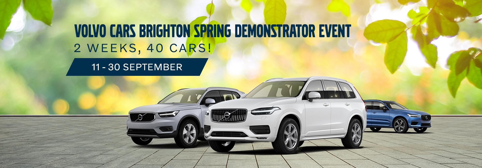 The Volvo Cars Brighton Spring Demonstrator Event