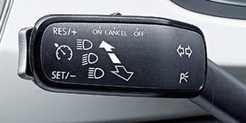 Cruise control with speed limiter
