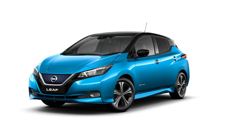 Vivid Blue with black roof