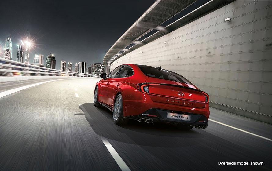 Sonata N Line Stylish aerodynamic body shape.