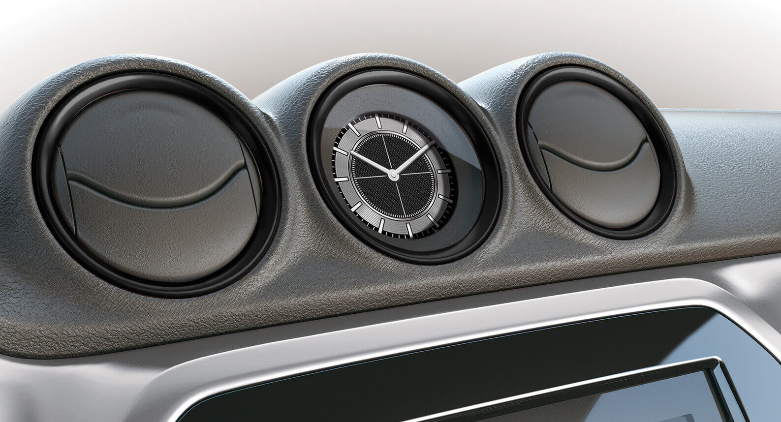 Vitara Air Conditioner Ring Set - Piano Black
