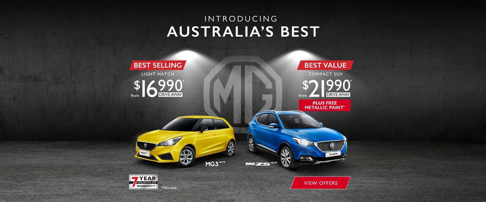 Australia's Best at MG