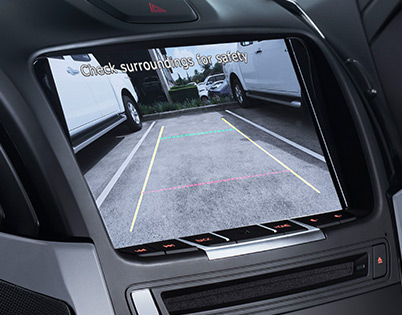 SatNav and Reversing Camera Image