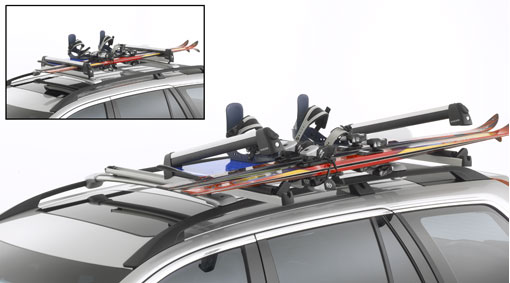Retractable ski holder
