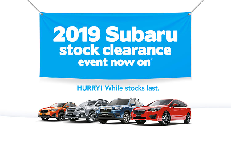 2019 Subaru stock clearance event now on