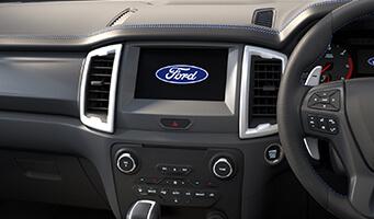 Ranger Raptor SYNC<sup>®</sup>3 Apple CarPlay & Android Auto<sup>1</sup>