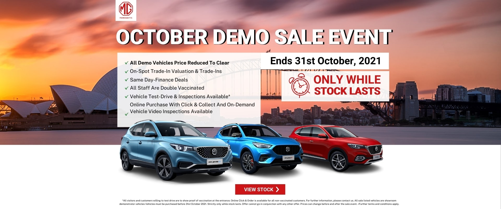 MG Demo Clearance Sale