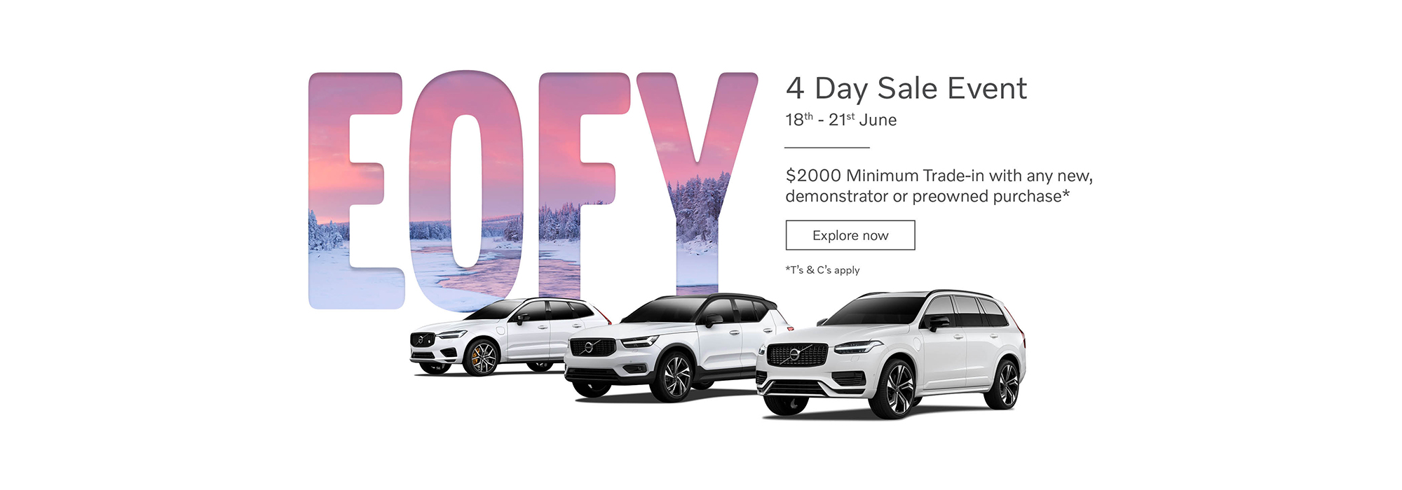 Volvo 4 Day Sale Event. 18th - 21st of June