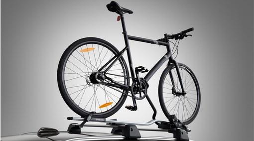 Aluminium bicycle holder with frame bracket