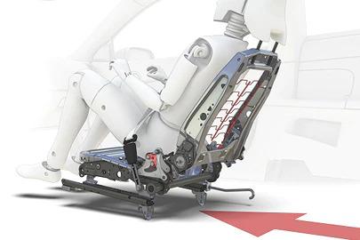 Whiplash injury protection system Image