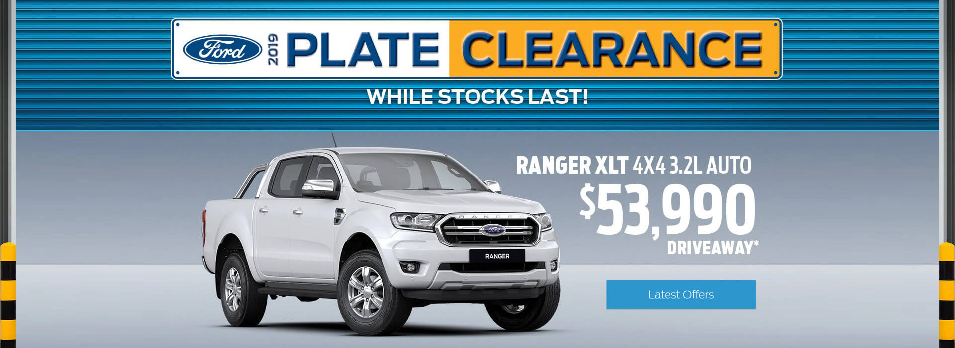 Ford 2019 Plate Clearance. While stock lasts