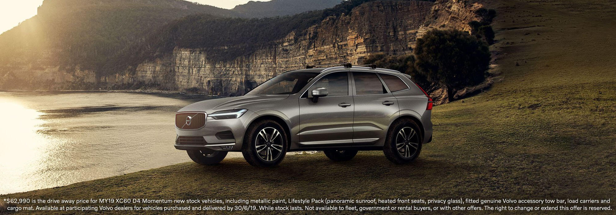 For a limited time the Volvo MY19 XC60 D4 Momentum is available from $62,990 Drive Away*.