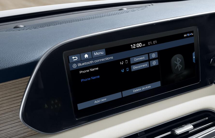 Palisade Multi-Bluetooth Connectivity.