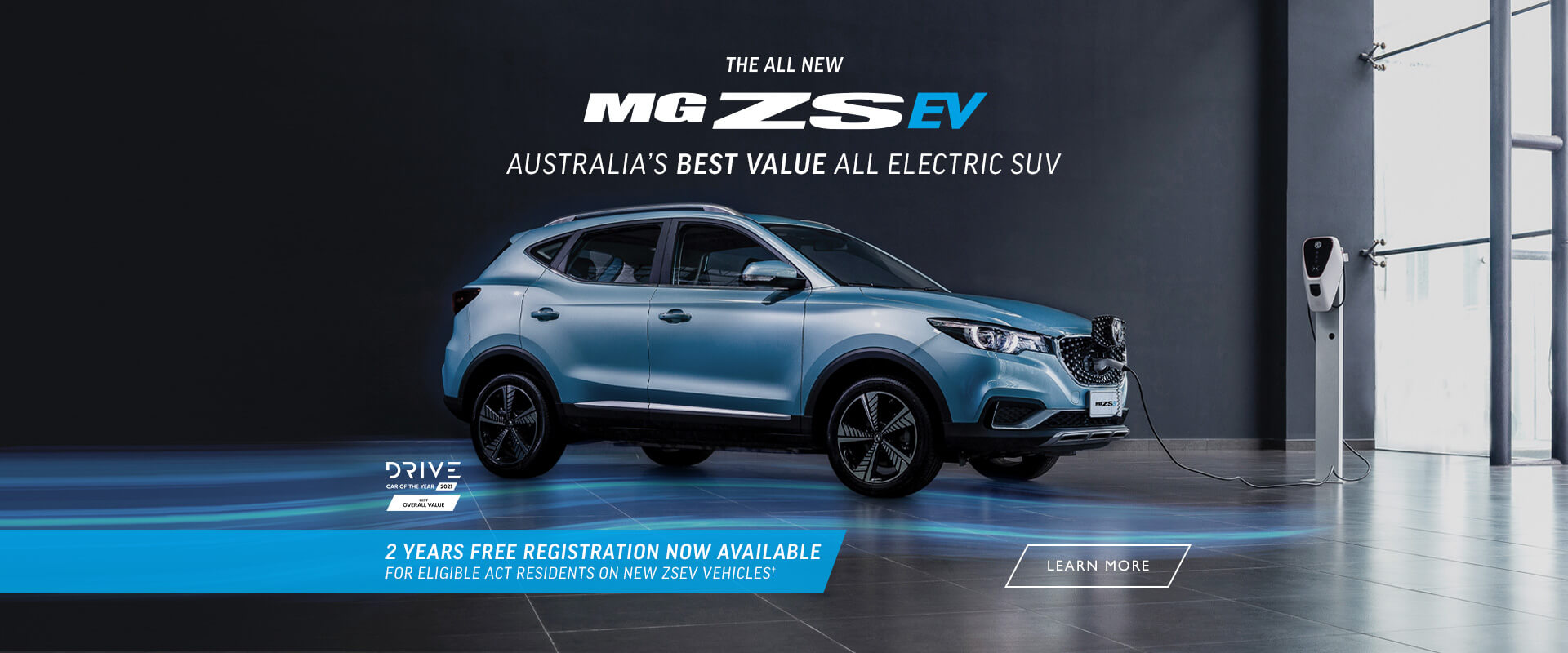 The new MG ZS EV. 2 Years Free Registration Now Available.