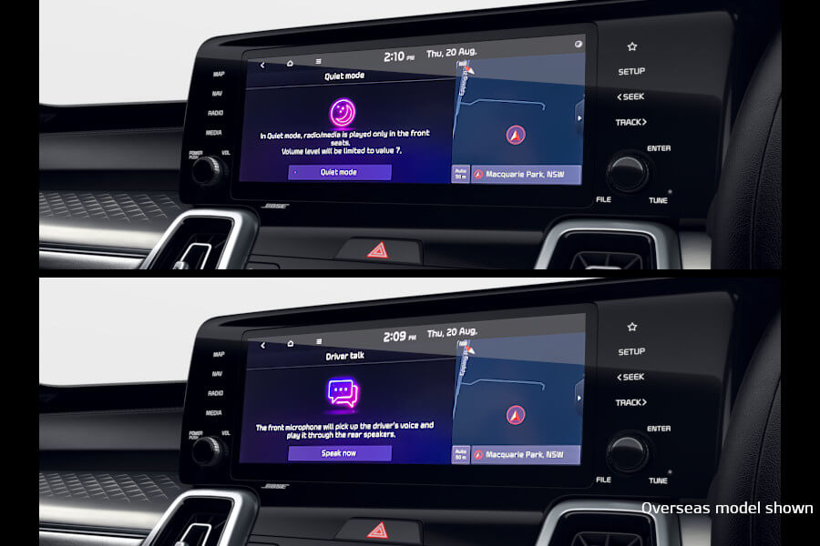 Quiet mode and driver intercom