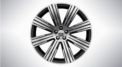 "21"" 8-Multi Spoke Black Diamond Cut Alloy Wheel - 1081"
