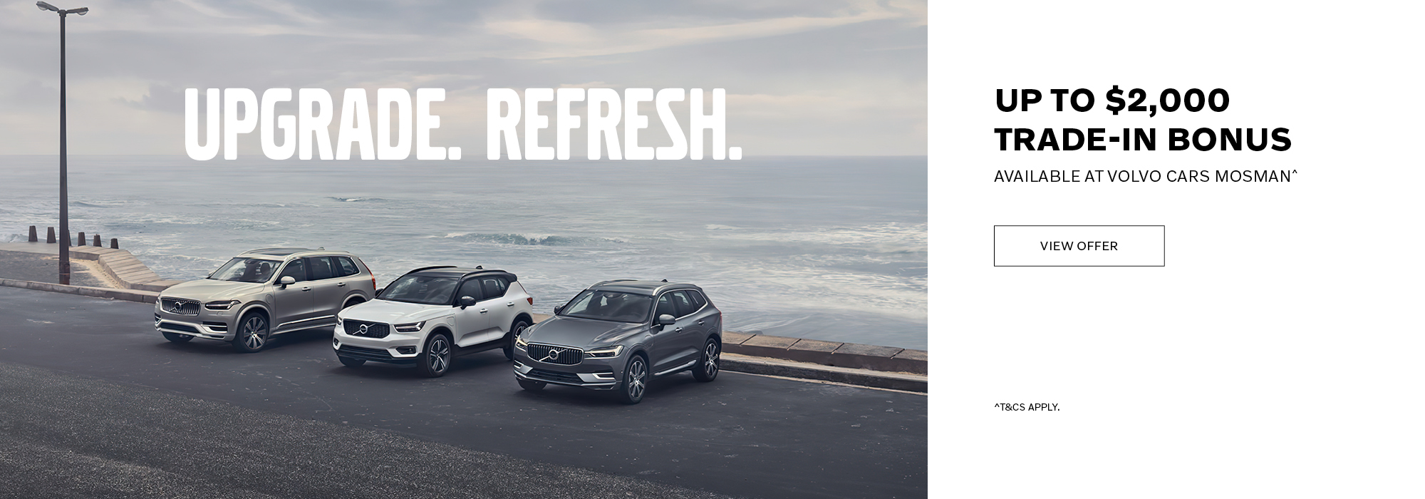 Up to $2000 trade-in bonus at Volvo Cars Mosman