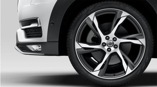 """Complete wheels, 22"""" 6-Double Spoke Tech Black Matt - C001"""