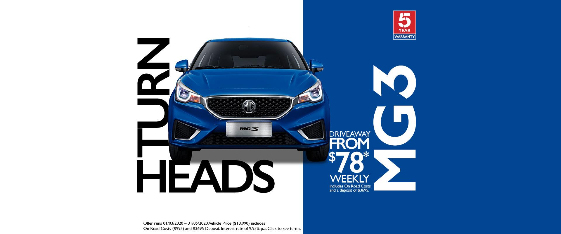 Turn Heads MG3
