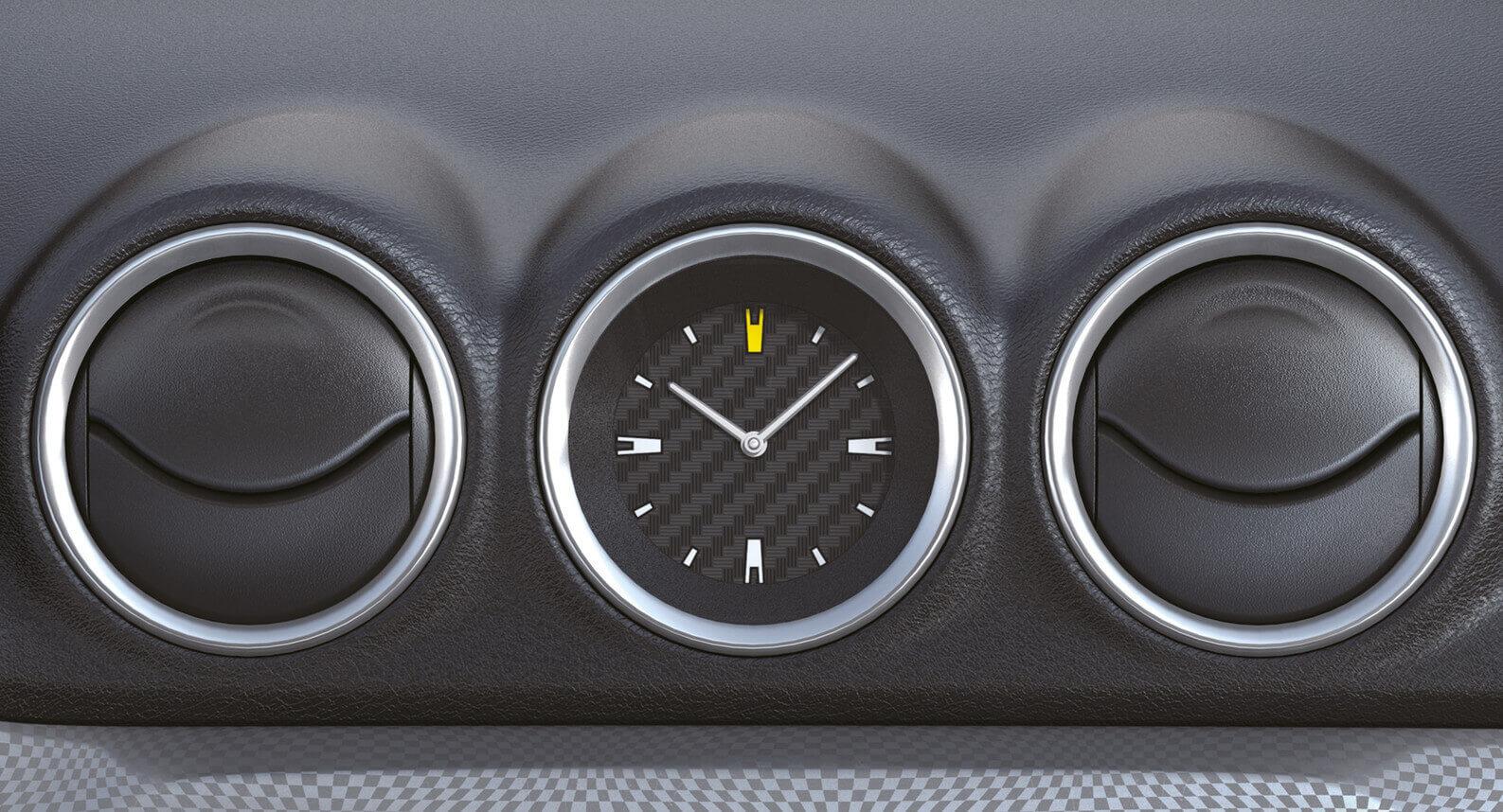 Vitara Centre Clock - Carbon