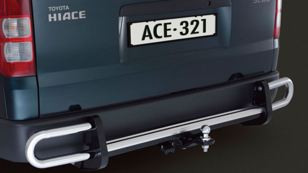 Towbar With Rear Step And Protector