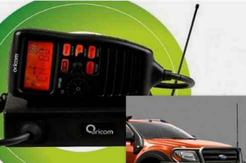 "<img src=""UHF CB Radio - Oricom - with antenna mount for bull bar fitment"