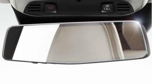 Mirror, rearview, autodimming with compass