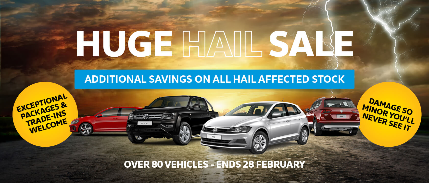 Hail Sale stock page banner