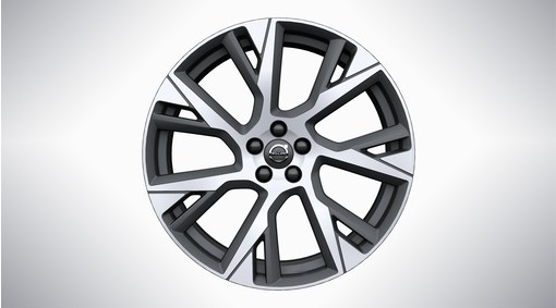 "21"" 7 -Open Spoke Matt Tech Black Diamond Cut Alloy Wheel - C006"