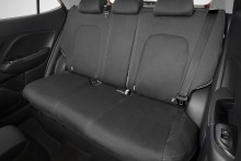 Neoprene rear seat covers.