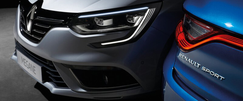 Megane Sport Signature LED 'C' shape running lights