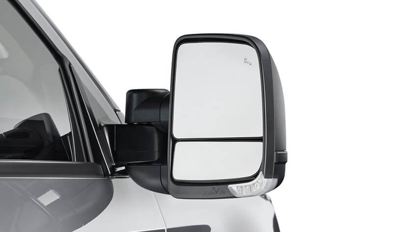 Clearview Next Gen Towing Mirrors - Power Fold - Black