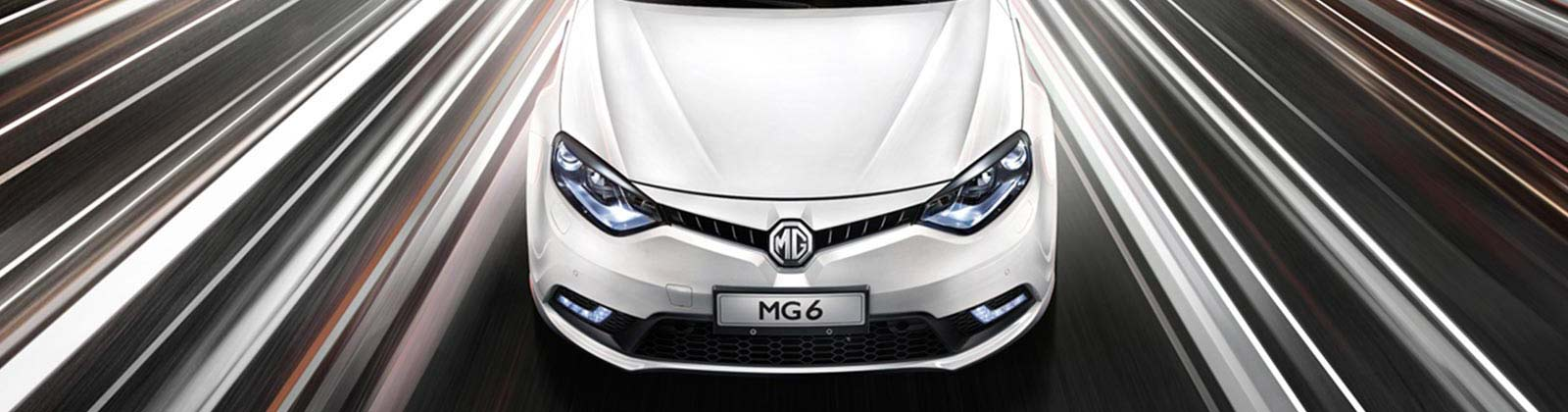 MG MG6 Plus in Mountain White front view