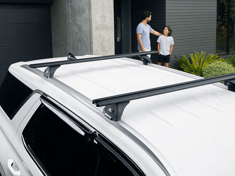 Hyundai genuine roof racks - through