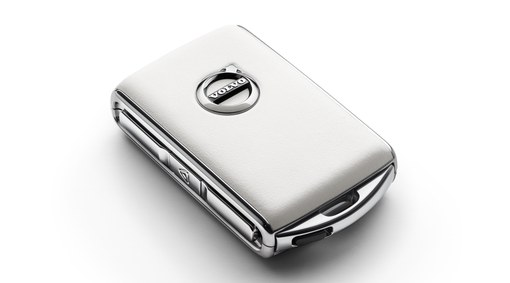 Remote key fob shell – white leather