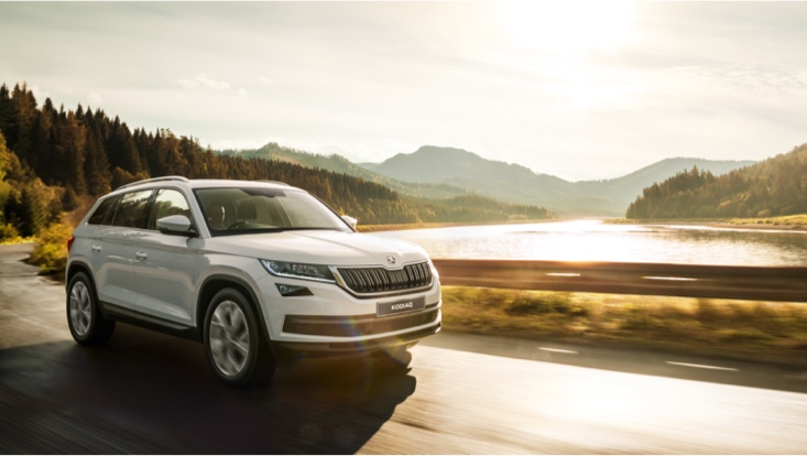 KODIAQ 7-SEAT 4X4<br>LIMITED TIME ONLY<br>FROM $44,990 DRIVEAWAY<sup>1</sup>