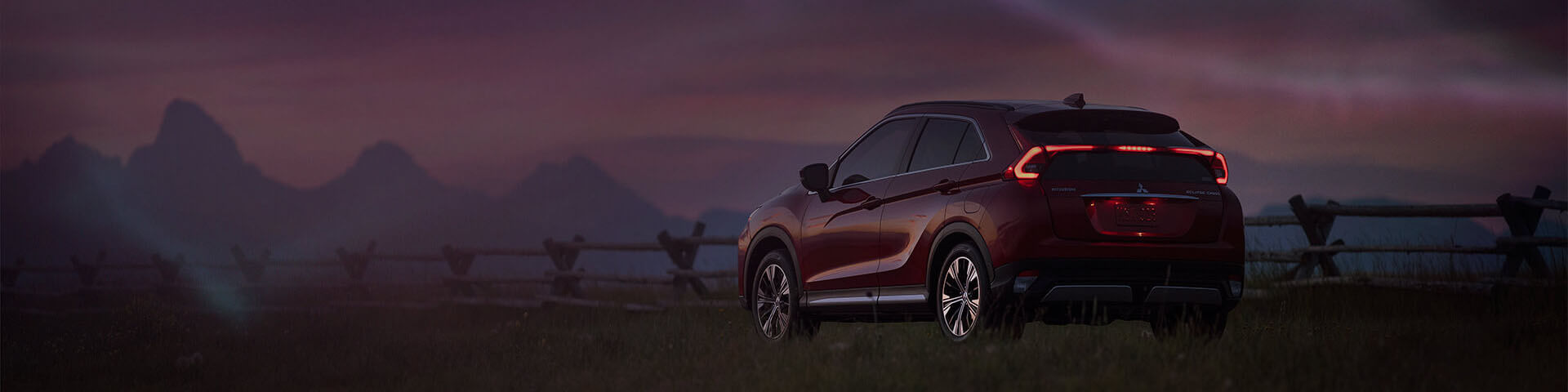 Mitsubishi Eclipse Cross at night.