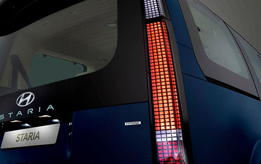 Staria LED taillights.