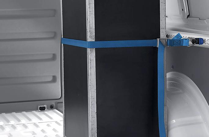 Tie-down belt fitting set