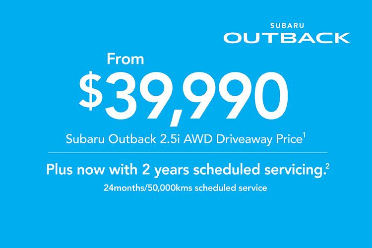 2019 Plate Clearance: Outback 2.5i AWD