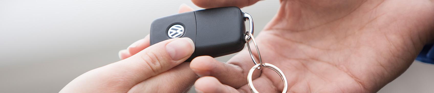 Handing over the keys to your new Volkswagen in Brisbane, Queensland.