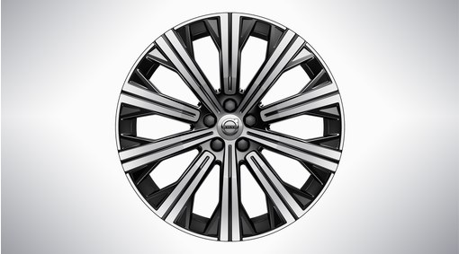 "20"" 10-Spoke Black Diamond Cut Alloy Wheel – 1080"