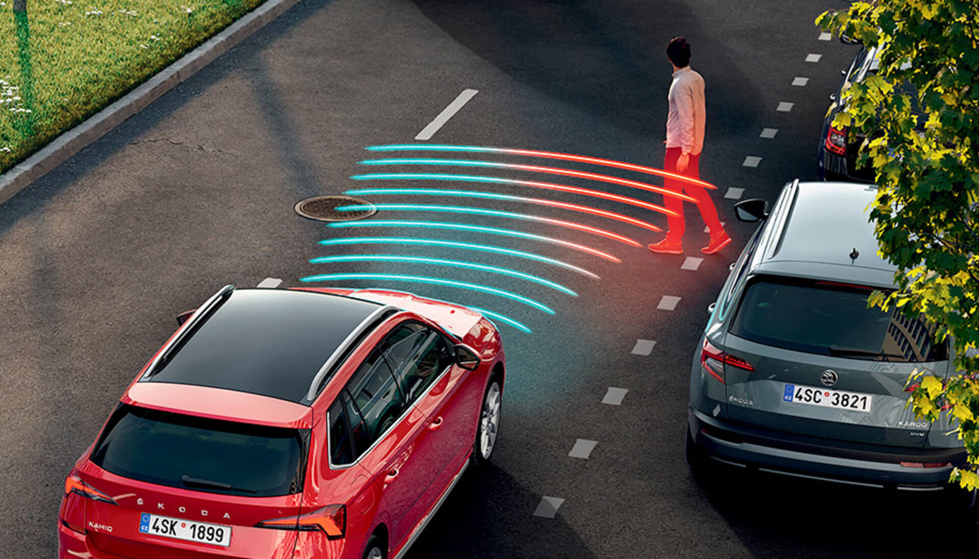 Kamiq Front Assist with Predictive Pedestrian Protection