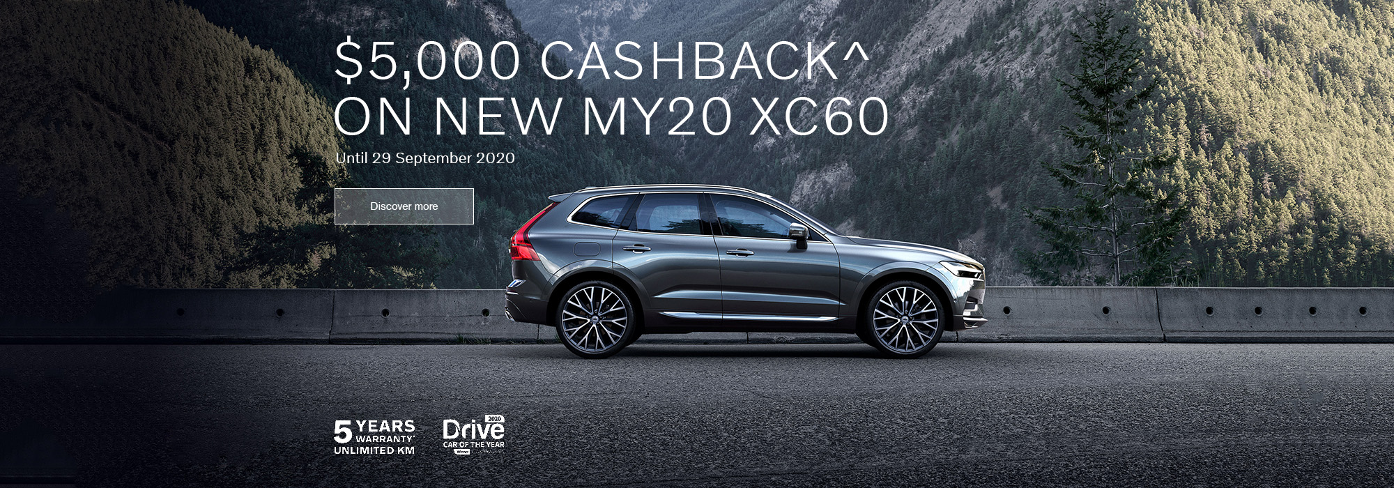 $5000 Cashback on new MY20 XC60