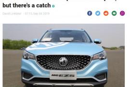 Stuff: MG ZS SUV is NZ's cheapest EV