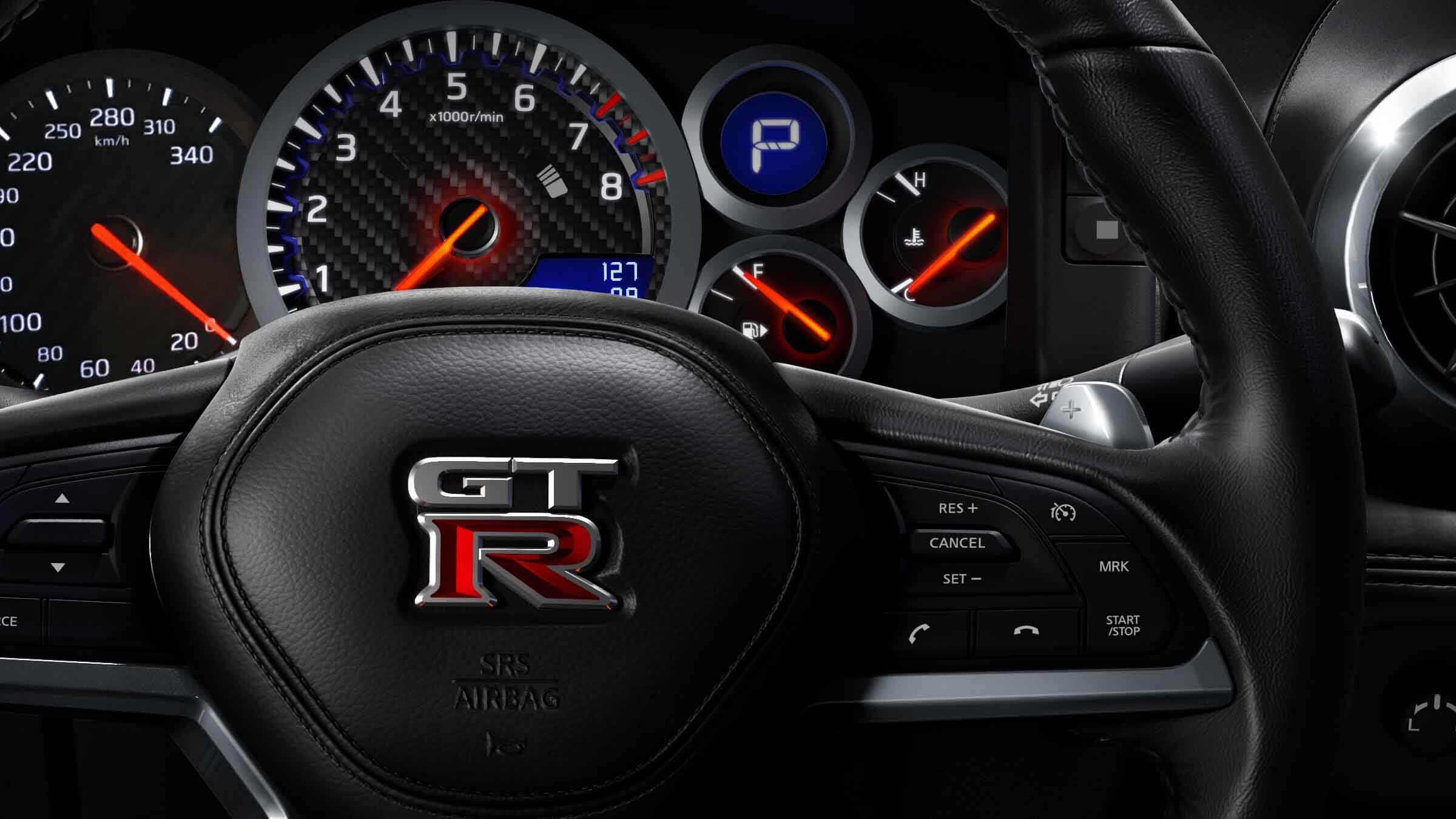 GT-R Steering Wheel and Gauges Image