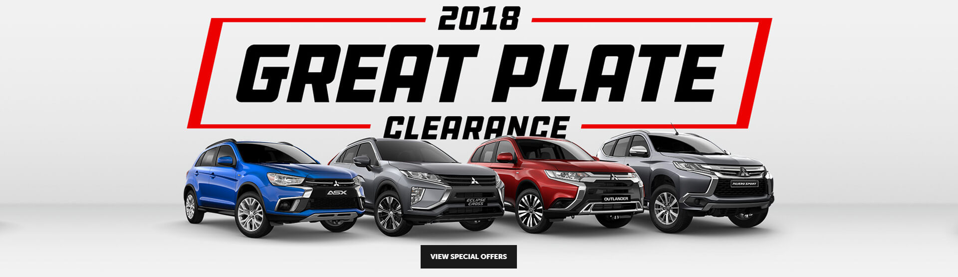 Mitsubishi 2018 Great Plate Clearance campaign banner