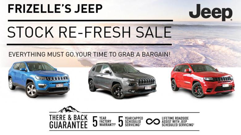Jeep Stock Re-fresh Sale