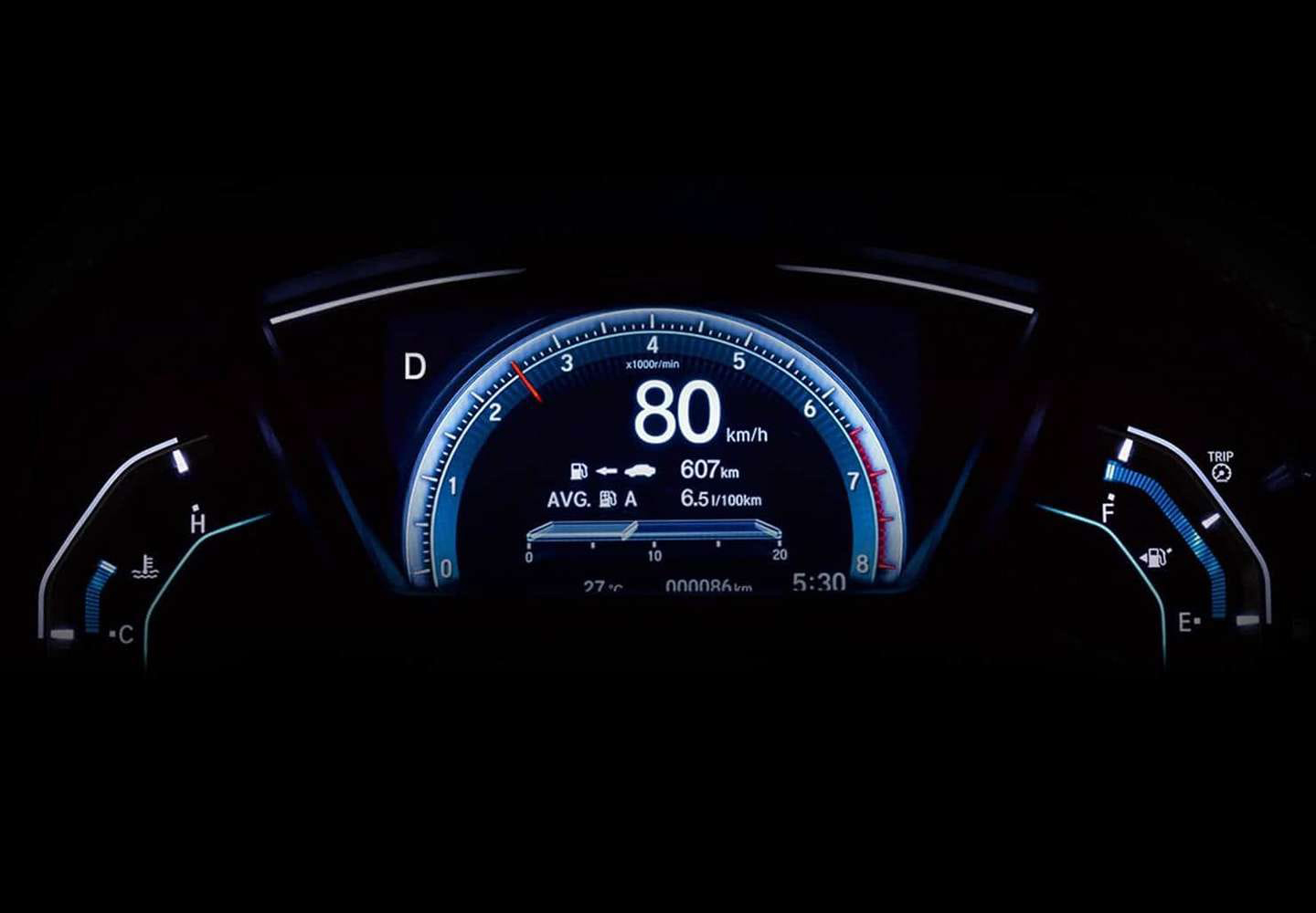 Civic Sedan Driver Information Interface